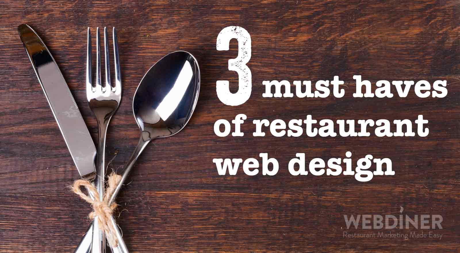 Restaurant Web Design Modern